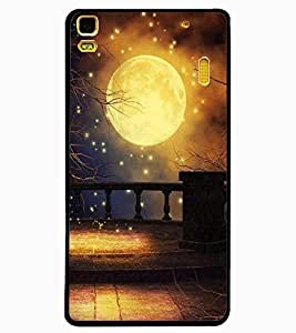 ColourCraft Lovely Moon Design Back Case Cover for LENOVO A7000 PLUS