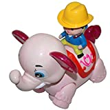 AdraXx Little Ambling And Moving Elephant Toy With A Rodeo - PINK [Toy]
