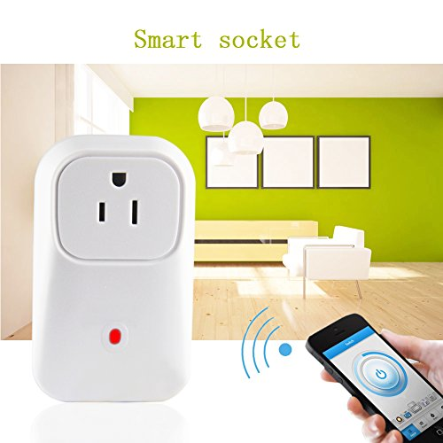 Wifi Smart Power Socket, Outlet Switch US Plug Turn On/off Electronics Through The Free IOS / Android Application...