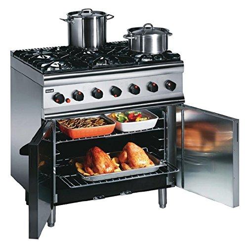 Heavy Duty 35.5kW Propane Gas 6 Burner Range Commercial Kitchen Restaurant Cafe