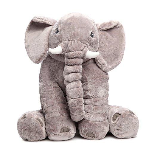 MorisMos-Elephant-Pillow-Child-Cute-Stuffed-Animal-Elephant-Plush-Pillow-Toy-Grey-24-inch60cm-60x45x25cm
