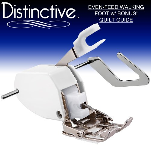 Distinctive Premium Even Feed Walking Sewing Machine Presser Foot with BONUS! Quilt Guide