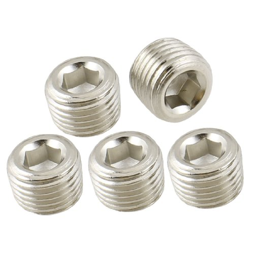 Uxcell air pipe fittings quot pt thread hex socket metal