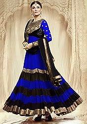 Shree Khodal Women's Blue Georgette Dress Material [SK_JCN1030B_D]