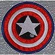 Bügelbild Aufbügler Aufnäher CAPTAIN AMERICA Marvel Comics SHIELD 3 inches Emblem Firmenemblem Produktion Thailändisch