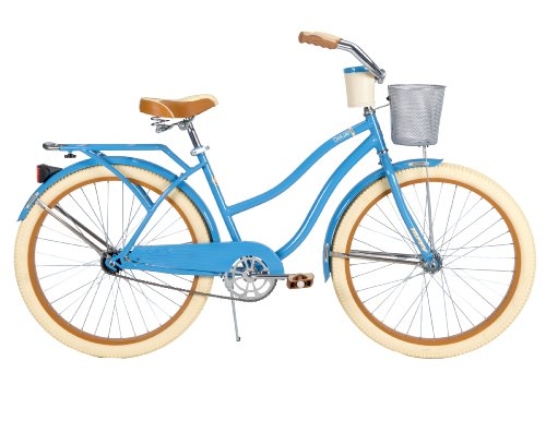 Cheapest Price! Huffy Bicycle Company Women's Cruiser Deluxe Bike, Vintage Blue