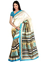 Winza Art Bhagalpuri Cotton Silk Party Wear Print Saree For Ladies & Women