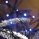 180x MICRO LED BLUE fairy lights, 12.5m, Christmas Festive - 3632-400 Konstsmide - low energy LED