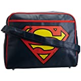 Logoshirt Unisex-Adult Superman Logo Street Fake Messenger Bag