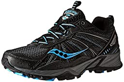 Saucony Women\'s Excursion TR8 Trail Running Shoe,Black/Blue,10 M US