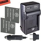 BM Premium Pack of 2 NB6L, NB-6L, NB-6LH Batteries And Charger Kit For Canon PowerShot S120, SX170 IS, SX260 HS, SX280 HS, SX500 IS, SX510 HS, SX520 HS, SX530 HS, SX600 HS, SX610 HS, SX700 HS, SX710 HS, ELPH 500 HS, D10, D20, D30 Digital Camera