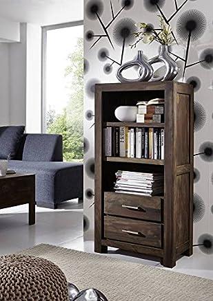 Sheesham mobili legno massiccio scaffale in legno di palissandro grigio massiccio Möbel Metro Polis #112