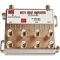 Antennas Direct CDA8 8-Way Output TV/CATV Distribution Amplifier
