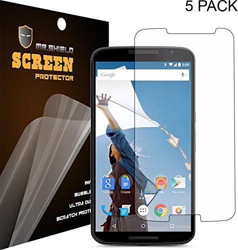 [5-Pack] Mr Shield For Google Motorola (Moto) Nexus 6 Anti-Glare [Matte] Screen Protector With Lifetime Replacement Warranty
