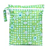 Bumkins Disney Baby Wet Dry Bag, Monsters Green by Disney