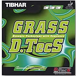 Tibhar Grass D.Tecs Table Tennis Rubber (Red)