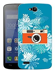 "Camera Daisy Printed Designer Mobile Back Cover For ""Huawei Honor Holly"" By Humor Gang (3D, Matte Finish, Premium Quality, Protective Snap On Slim Hard Phone Case, Multi Color)"