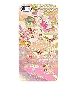 Floral Art 3D Hard Polycarbonate Designer Back Case Cover for Apple iPhone 5