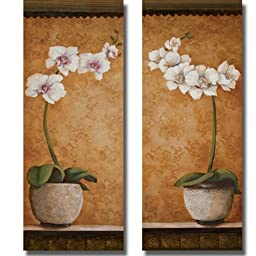 Hanna\'s Orchids by Susan Osborne 2-pc Premium Stretched Canvas Set (Ready to Hang)