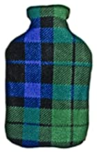 Warm Tradition BLUE and GREEN PLAID Fleece Covered Hot Water Bottle - Bottle made in Germany, Cover made in USA