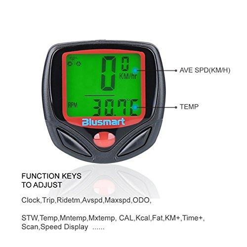 Blusmart® Outdoor Sport Waterproof LCD Computer Odometer Speed Meter Cycling Bicycle