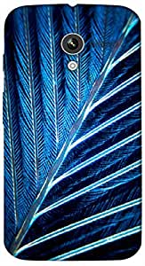 Timpax Protective Armour Case Cover lightweight construction easily slides in and out of pockets. Multicolour Printed Design : Blue leaf.For Motorola Moto-X ( 1st Gen )