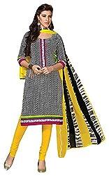 Designerz Fantasy Women's Cotton Unstitched Dress Material (Multi-coloured)