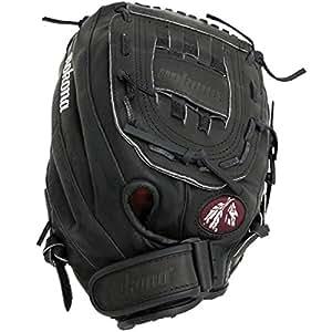 Nokona Buckaroo Fastpitch Softball Glove, Left Hand, 12-Inch, Black