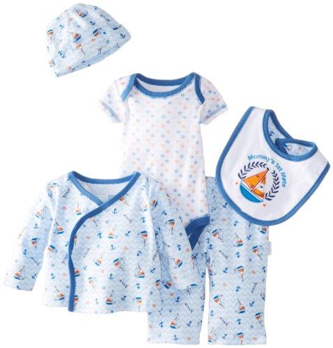 Vitamins Baby Baby-Boys Newborn Sailboat 7 Pack Gift Set, Blue, 3 Months front-28139