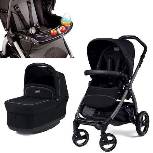 Peg Perego - Book Pop Up Stroller With Tray - Onyx front-925579