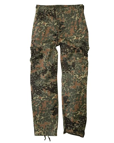 Mil-Tec Men's Us Army Ranger Trousers Work Combat Military Casual Pants X-Large Flecktarn (Ranger Combat Pants compare prices)