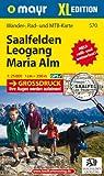 Saalfelden - Leogang - Maria Alm XL: Wander-, Rad- und Mountainbikekarte. GPS-genau. 1:25000