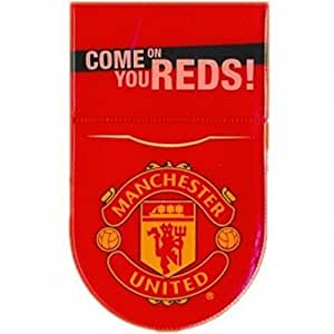 Manchester United FC Tax Disc Holder One Size Red