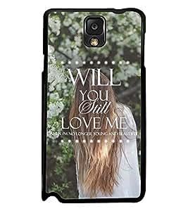 Printvisa Lonely Girl Love Quote Back Case Cover for Samsung Galaxy Note 3 N9000::Samsung Galaxy Note 3 N9002::Samsung Galaxy Note 3 N9005 LTE