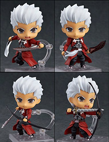[Archer Nendoroid Action Figures Fate/Stay Night Size 4 inches Changeable Head and Arm with Stand] (Megaman Halloween Costume)