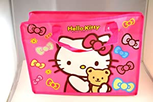 Large Pink Hello Kitty Reusable Eco-friendly Recycled Shopping or Tote Bag w/ Zipper Closure