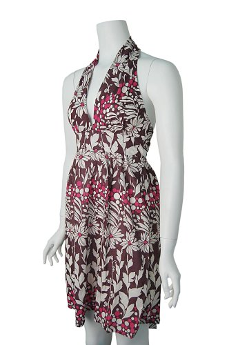 Salt & Pepper Women's Backless Floral Pattern Dress