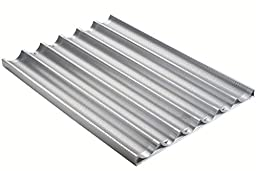 Focus Foodservice Commercial Bakeware 6 Count 26-Inch Perforated Baguette Pan