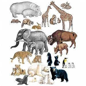 Little Folks Visual Wild Animals PRE CUT Flannelboard Figures