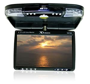 XO Vision GX2148 9-Inch Wide Screen Overhead Monitor with Built-in DVD Player, USB and SD Card Inputs, and FM Transmitter