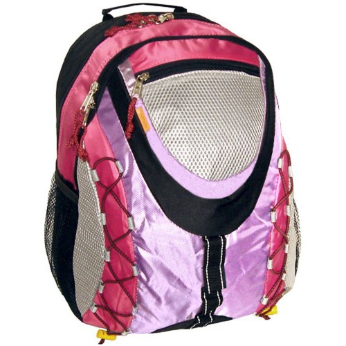 K-Cliffs Pink Sporty Outdoor School Backpack