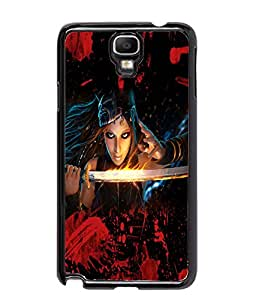 Fuson Blood Sword Girl Back Case Cover for SAMSUNG GALAXY NOTE 3 NEO - D3824