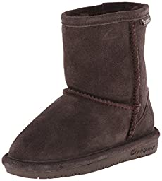 BEARPAW Emma 608T Shearling Boot (Toddler/Big Kid),Chocolate,9 M US Toddler