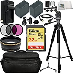 Ultimate Professional Accessory Kit. Includes 0.43X Wide Angle Lens + 3 Piece Filter Kit (UV-CPL-FLD) + SanDisk 32GB Extreme SDHC Class 10 Memory Card (SDSDXN-032G-G46) + 2 Extended Life Replacement Batteries (CGA-D54) + AC/DC Rapid Home & Travel Charger