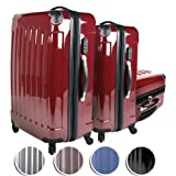 Vojagor� TRSE01 Suitcase Trolley Set of 3 Super Lightweight Rolling Mix-Hard Shell Suitcases Travel Bags Luggage DIFFERENT COLOURSby Vojagor�