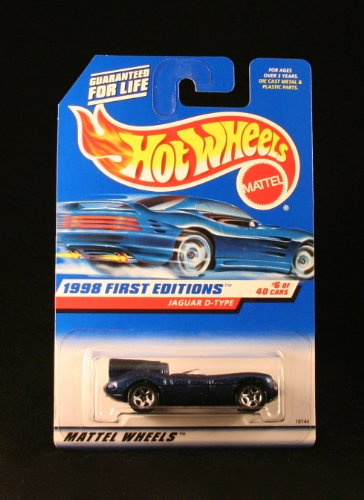 JAGUAR D-TYPE * BLUE * 1998 FIRST EDITIONS SERIES #6 of 40 HOT WHEELS Basic Car 1:64 Scale Series * Collector #638 * - 1
