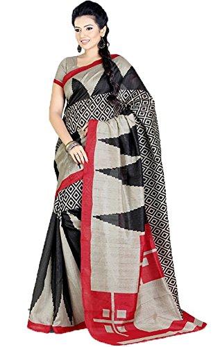 Shri Vaishnavi Indian printed Raw Silk Saree (5139)