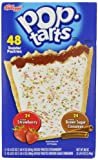 Kelloggs Pop-tarts Frosted Toaster Pastries, 24-Strawberries & 24-Brown Sugar Cinnamon-, 86 Ounce