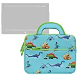 Nabi Elev-8 Case Evecase Kids Tablet Neoprene Sleeve Carrying Case Compatible with Fuhu Elev-8 inch Android Tablet, NABI 2, nabi 2S Tablet PC (SN02-NV07A-WH)- Cute Dinosaurs Themed