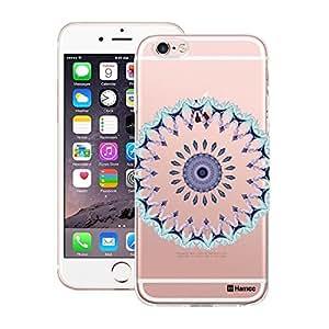 Customizable Hamee Original Designer Cover Thin Fit Crystal Clear Plastic Hard Back Case for Apple iPhone 6 plus / 6s plus (Crystal Blue Mandala)